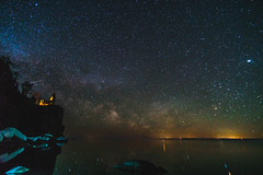 Milky Way Rising (shouavang) Tags: astrophotography lighthouse landscape astronomy milkyway minnesota northshoremn tettegouche splitrocklighthouse mn twincities minneapolis nightphotography stars starphotography