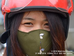 2015-04b Eyes Only 2018 (04) (Matt Hahnewald) Tags: matthahnewaldphotography facingtheworld real live head eyes orientaleyes hair longhair helmet facemask mouthfacemask crashhelmet motorcyclist consent fun concept travel traffic lifestyle beauty health safety equity diversity inclusion empowerment impact sisterhood sincheng vietnam vietnamese hmong asian oneperson female adult girl young woman image photo naturalframe nikond3100 primelens 50mm 4x3 horizontal street portrait closeup headshot cropped outdoor color posing cool iconic awesome incredible authentic beautiful pretty pollution protection protective environment prevention equipment nikkorafs50mmf18g fullfaceview lookingcamera northern