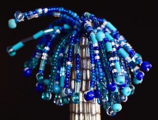 Blue Beaded Brush