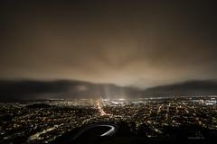 San Francisco at night in rain (AkDExplorer) Tags: california sanfrancisco bayarea night city lights rain cloudburst twinspeak d850 nikon wideangle slowshutter benro acratech