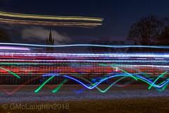 Earth hour 2018, Glasgow (GWMcLaughlin) Tags: wwf park environmental environment march24 march efs 18135mm uni universityofglasgow university earthhour scotland kelvingrove kelvin lights cyclists cyclist cycling 70d canon trails light exposure long 2018 glasgow hour earth