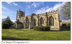 St Oswalds, Althorpe, North Lincolnshire (Paul Simpson Photography) Tags: althorpe stodwald stoswalds northlincolnshire church religion paulsimpsonphotography imagesof imageof photoof photosof churchyard sunshine history sonya77 sigmawideangle grass march2018 churchwindows churchtower stonebuilding bluesky