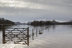 Breakthrough (andyrousephotography) Tags: lakedistrict keswick derwentwater lake water fence winter mountains cold snow crisp leefilters 06ndmedgrad ngc