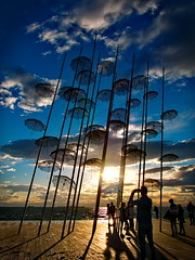 Umbrellas..... (Photo_hobbyist) Tags: umbrellas thessaloniki greece macedonia makedonia art exhibit sky clouds city macedoniagreece timeless macedonian macédoine mazedonien μακεδονια македонија