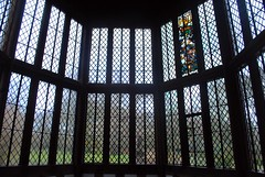 Looking out from the Great Hall (zawtowers) Tags: ruffordoldhall rufford lancashire national trust property hesketh family residence gradei listed building built 1530 historic house great hall oldest part dating back 16th century tudor era looking out window bay gardens