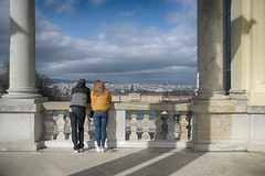 The view (VKUSH) Tags: view people couple palace city urban sky architecture landscape vienna perspective