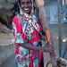 Somali woman using mortar and pestle, Woqooyi Galbeed region, Hargeisa, Somaliland