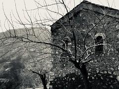 Dark in black_IMG_7945 (AchillWandering) Tags: megaspileo kalavryta greece monastery peripolo chelmos