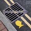 No Stopping for Fish (Doug.King) Tags: road drain fish parking yellow geometric looe