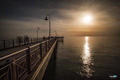 Marina di Pietrasanta sunset (capellini.chiara) Tags: toscana tuscany sole mare sea primavera marinadipietrasanta pontile sera tramonto colors clouds sky sunset