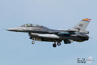 J-882 Royal Netherlands Air Force Fokker F-16BM Fighting Falcon