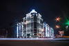 Night Podil (Krutev Dmitry) Tags: night nex nex5 sony sonynex sonyalpha nightcity photo architecture alpha arch art dark manual car light streaks wideangle building sky road city windows artforvisual