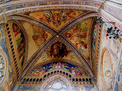 Altar Ceiling (█ Slices of Light █▀ ▀ ▀) Tags: high altar apse life painted ceiling fresco painting jesus christ saint mary virgin duomo orvieto 奥尔维耶托 主教座堂 interior cathedral 座堂 church catholic italia 意大利 italy olympus em1