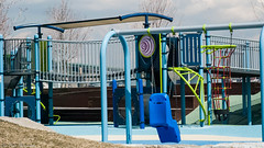Playground at Major Thomas Menino Park (kuntheaprum) Tags: majorthomasmeninopark menino charlestown boston cityscape nikon d80 samyang 85mm f14 water tobinbridge cityofboston