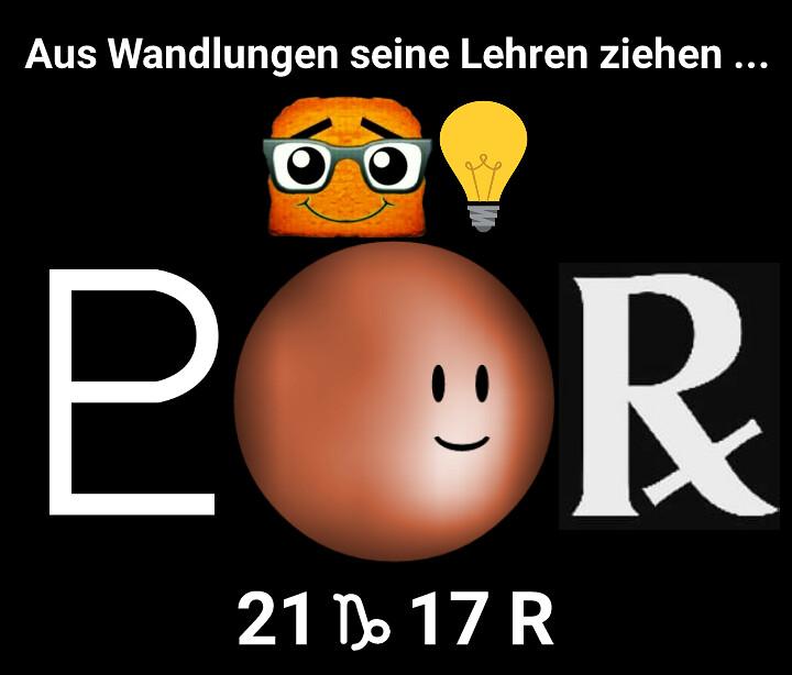 Pluto wird rückläufig
