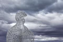 le nomade de jaume plensa (nietsab) Tags: nomade nuages cote azur antibes france plensa sculpture
