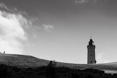 <Man with dog (Alex von Sachse) Tags: rubjergknudefyr denmark travel travelphotography lighthouse dune man with dog monocrome blackandwhite fineart landscape landschaft schwarzweiss leuchtturm düne mann mit hund