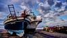 Barcos varados. Otro procesado. (zapicaña) Tags: zapigata cabodegata cielo clouds beach boat barco barca sky spain sea sand sur south nubes almeria andalucia agua arena water landscape españa europa europe pesca