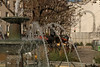 La Place George Mustaki - Paris (France) (Meteorry) Tags: europe france idf îledefrance paris spaceinvader spaceinvaders invader invaderwashere mur wall street rue art artderue pixels pa1314 spaceflowers placegeorgemustaki squaresaintmédard fountain fontaine ruemouffetard lamouff sunlight ensoleillée water november 2017 meteorry