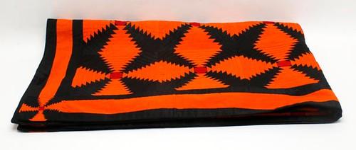 Unique Black and Orange Pieced Quilt ($1,176.00)