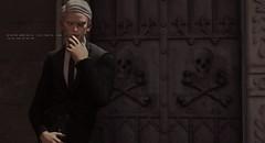 Waiting at Hell's door (drayton.miles) Tags: minimal hell leroy callis git master boss manager bastard ugly suit deadwool lolly evil villain villains villian dark darkness gang gangster mafia albino grey nasty cruel