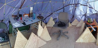 Here is where the fun begins.   Assembly Time.  #bisbee #geodesic #motoz