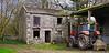 Old Farmhouse & A Red Tractor (wontolla1 (Septuagenarian)) Tags: barbondale yorkshire dales barbon derelict farmhouse farm tractor red abandoned agriculture ruin sigma 19mm f28 dn art lens lumix g3 farmyard wednesdaywalk