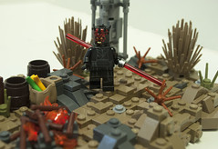 Tales on Tatooine: Twin Suns (Ben Cossy) Tags: darth maul obiwan obi wan kenobi ben star wars rebels twin suns dave filoni moc tfol afol fire duel lightsaber