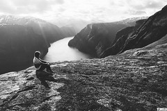 Flåm Fjord - Norway (TLMELO) Tags: montanha mountain mountaineer mount noruega norway norwegian keepwalking justdoit walking neve snow impossibleisnothing girl woman fiord fiorde