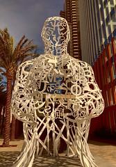 """Pacific Soul""-sculpture or statue -7DWF Crazy Tuesday Theme (Karon Elliott Edleson) Tags: sculpture jaumeplensa statue 7dwf sandiego pacificsoul pacificgate downtown"