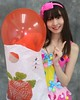 Spring Balloon Wants Attention (emotiroi auranaut) Tags: girl woman lady spring pretty cute adorable lovely beauty beautiful face hair smile smiling point pointing finger strawberry strawberries season bag red toy balloon air life grin grinning