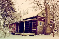 Home Long Ago (Plummerhill) Tags: cabin snow indiana ruraldeterioration