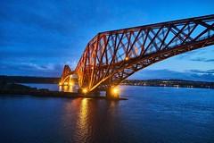 Forthbridge (Florian Seiffert) Tags: eisenbahnbrücke sonya6500 sony fife abhainndhubh 2017 islandundgrönland msartania huntingthelight blauestunde edinburgh scotland firthofforth bridge railroad forthbridge