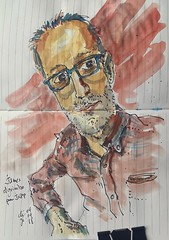 James Elgrimbo pour #JKPP      #sketch #portrait #juliakaysportraitparty  #aquarelle #watercolors (dege.guerin) Tags: watercolors portrait juliakaysportraitparty sketch jkpp aquarelle