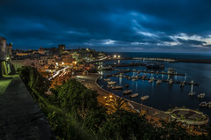Scende la sera su Forio (Nunzio Pascale) Tags: panorama landscape blue mare barche