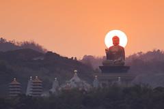 台灣-高雄佛光山佛祖日落 (黃昱峰) Tags: 台灣 高雄 佛光山 大佛 佛祖 日落 風景 landscape sunset