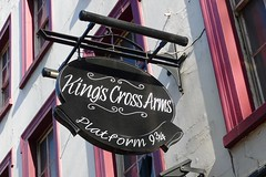 King's Cross Arms, St Pancras, WC1 (Ewan-M) Tags: london england londonboroughofcamden stpancras kingscross wc1 wc1x thekingscrossarms kingscrossarms swintonstreet pubsigns