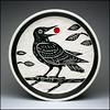 Crow Plate (Rodrick Dale) Tags: crow bird ceramic pottery slip carving