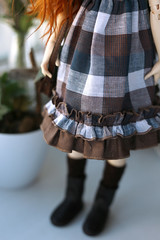 New dress (Nymphodisiac) Tags: minifee dress doll sewing bjd