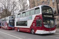 Lothian 1001 • LXZ 5383 (BG61 SXJ) (MichaelStuartEDI) Tags: bg61sxj towertransit first 37978 vn37978 2 gemini wright b9tl volvo lxz5383 1001 buses lothian lothianbuses
