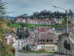 Uster (sander_sloots) Tags: uster switzerland road view lampposts houses town uitzicht stad weg lantaarnpaal lantaarnpalen oberuster bagturgi quadraluxk streetlamps lampadaires huizen
