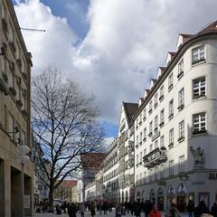 Kaufingerstrasse (jrw080578) Tags: buildings trees germany deutschland munich münchen bavaria bayern