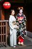 Maiko Mizuno (Fukushima Okiya) of Gion Kobu on the day of her Misedashi, posing with with her onee-san Geiko Fumino (balbo42) Tags: 2018 kyoto misedashi gion kobu japon fukushimaokiya maiko okiya mizuno xh1 fujifilm japan