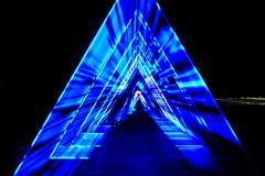 The Wave @ Ofelia Plads (Lotte Møller) Tags: art installation blue light triangle