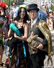 Dr. Takeshi Yamada and Seara (Coney Island sea rabbit). Brooklyn, New York.   20160618SAT MERMAID PARADE. DSCN6633=p-1010C2 (searabbit29) Tags: takeshiyamada fineartexhibitions museumcollections famous japanese japaneseamerican artist osaka tokyo japan tv painting sculpture photography graphicdesign sideshow freakshow banner gaff performance fashiondesign fashion tophat jabot jewelrydesign victorian gothic goth steampunk dieselpunk fashiondesigner playboy bikini roguetaxidermist roguetaxidermy taxidermist taxidermy specialeffect cabinetofcuriosities dimemuseum seara searabbit coneyisland mythiccreature cryptozoology cryptid brooklyn newyorkcity nyc newyork