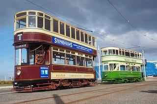 Bolton 66 & Blackpool 147. Pleasure Beach terminus, Blackpool.
