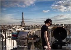 Roof-Top BBQ Party à Paris avec  le Chef Guillaume Sanchez (Christophe Hamieau) Tags: bbq continentsetpays eiffeltower europe fr fra france guillaumesanchez paris barbecue rooftop roofs tatoo tatouages toits toureiffel îledefrance