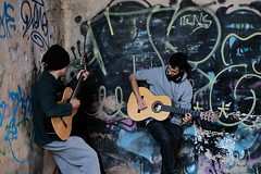 street music in Granada (Martin P Perry) Tags: buskers busking music musicians granada flamenco spanish espana spain street graffiti art spray paint