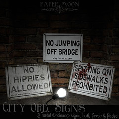 *pm* City Ord Signs poster (the_innocence) Tags: papermoon pm decor homedecor sign signs city streetsigns street urban fresh faded bloody