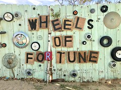 Wheels of Fortune (MyLifesATrip) Tags: joshuatreenationalpark joshuatree art california us ustravel desert